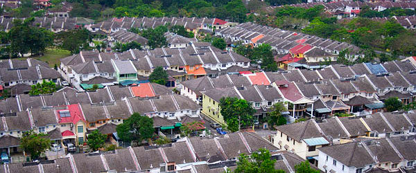 An housing estate in Malaysia